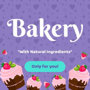 Banner Creator for Bakeries 383c