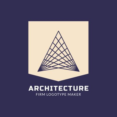 Architecture Logo Template with Geometric Designs 1421c
