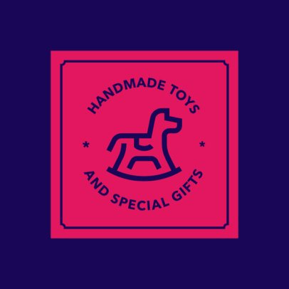 Handmade Toys and Gifts Store Logo Maker 1393d