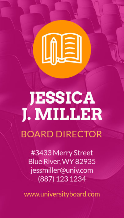 School Board Director Business Card Creator 573b