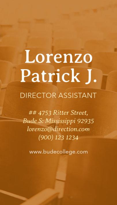 Vertical Business Card Maker for School Director Assistant 573c