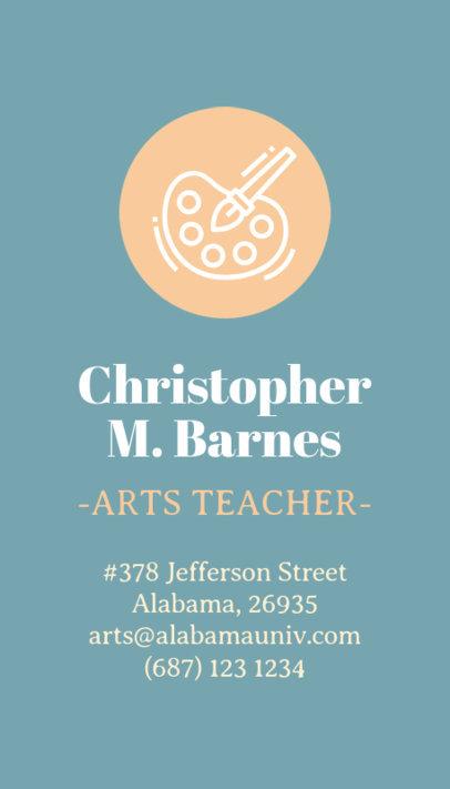 Vertical Business Card Maker for Arts Teacher 573e