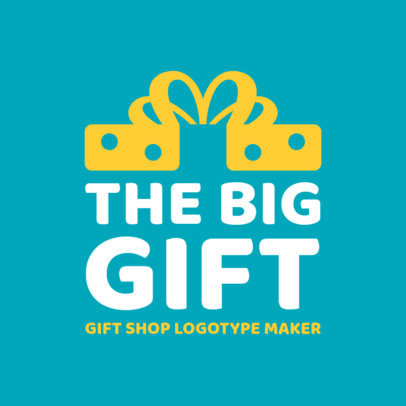 Gift Logo Template with Thick Font 1395e
