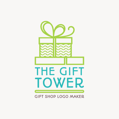 Gift Logo Maker with Gift Box Illustration 1395d