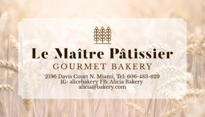 Bakery Business Card Template with Wheat Images 572d