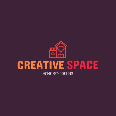 Home Remodeling Logo Creator 1431a