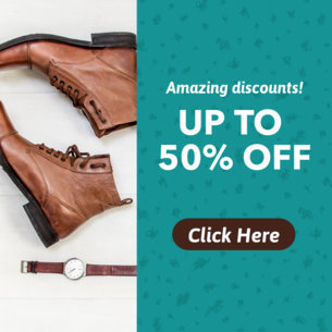 50% Off Shoes Ad Banner Template 610a