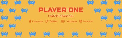 Retrogaming Twitch Banner Maker 577a