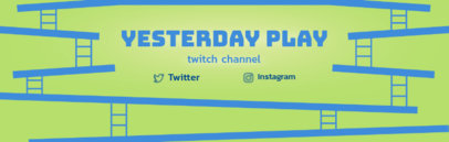 Twitch Banner Maker for Retrogaming Channel 577b