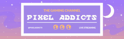 Pixel Graphics Twitch Banner Template 600a