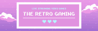 Retro Gaming Twitch Channel Banner Maker 600c