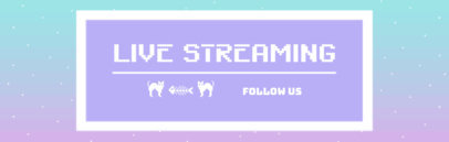 Twitch Banner Template for Cool Retro Gamers 600e
