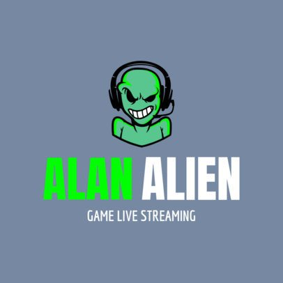 Gaming Live Stream Channel Logo Maker 1323e