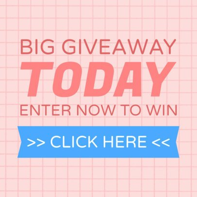 Giveaway Banner Template for Websites 528c