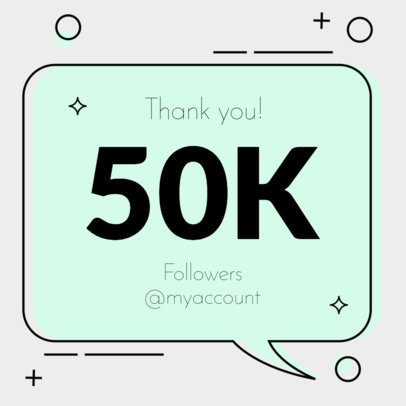 Instagram Post Maker for a Followers Milestone Celebration 615