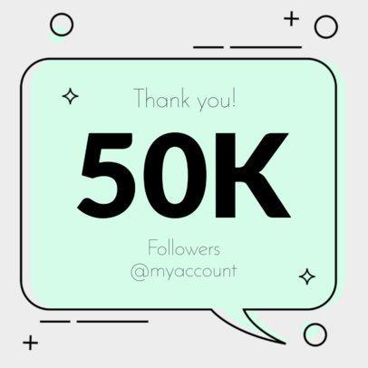 Instagram Post Maker for a Followers Milestone Celebration 615