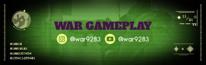 Twitch Banner Maker with Shooter Game Background 588d