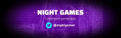 Twitch Banner Maker with Suspense Style 588e