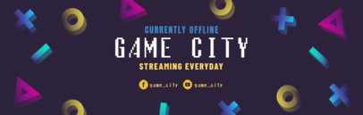 Twitch Banner Template with 3D Icons 586c