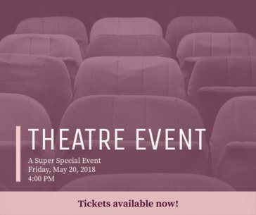 Facebook Post Maker for Theatre Event Promotion 638e