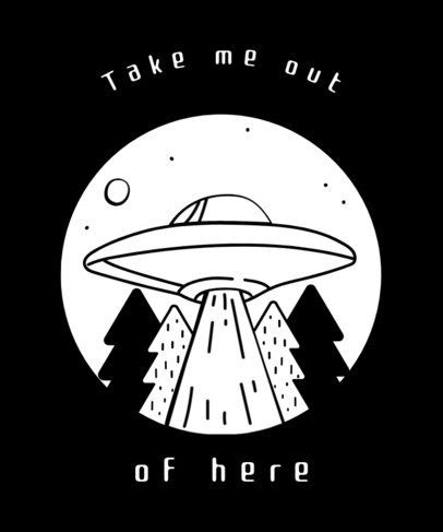 UFO Design T-Shirt Template 437b