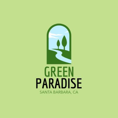 Landscaping Logo Maker with Vertical Layout 1435b