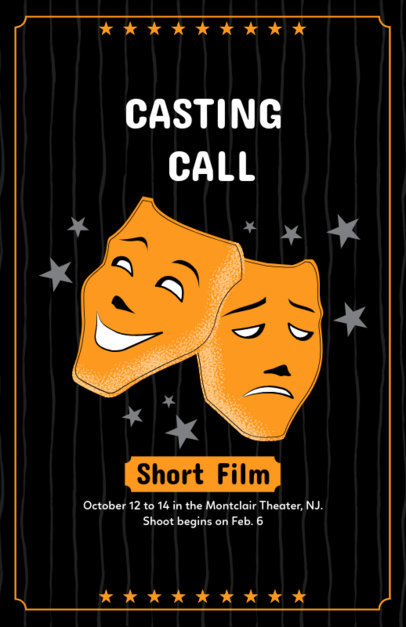 Flyer Maker for Short Film Casting Call 422c