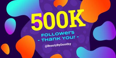 500k Followers Celebration Twitter Post Template 613c