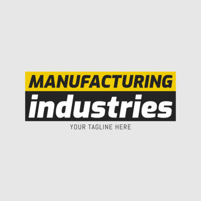 Manufacturing Industries Logo Design Template 1418