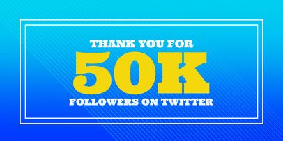 Thank You Followers Twitter Post Maker 619