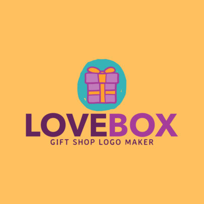 Gift Store Logo Maker with Box Graphics 1397a