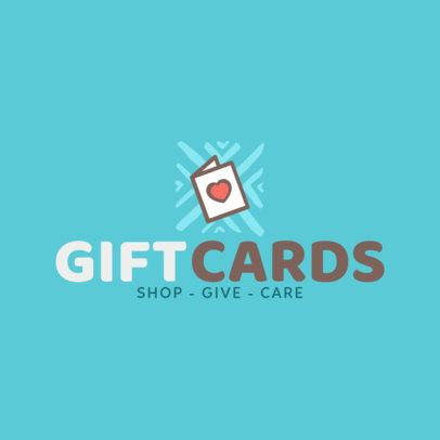 Gift Card Logo Design Template 1397d