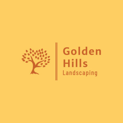 Landscaping Logo Template with Tree Graphics 1425b