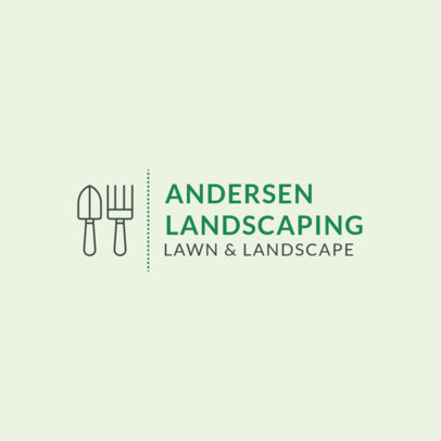 Lawn and Landscape Service Logo Maker 1425e