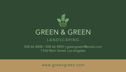 Landscaping Business Card Creator 652
