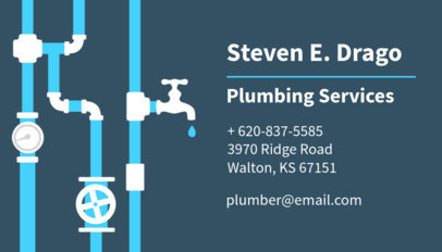 Plumbing Services Business Card Maker 654