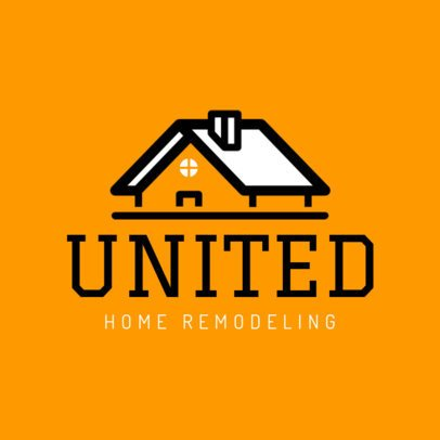 Home Remodeling Logo Maker with Roof Graphics 1430a