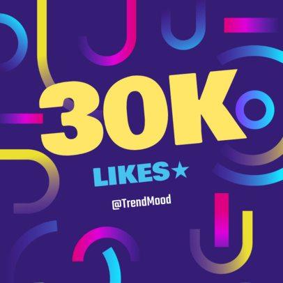 Followers Milestone Post Template for Instagram 636e