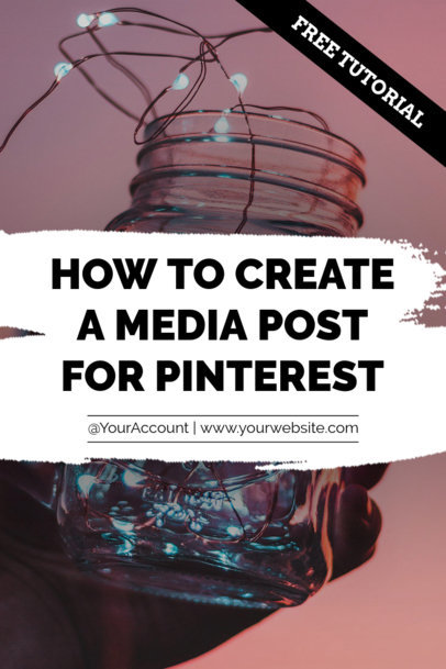 Pinterest Pin Post Template for Social Media Tutorial 663