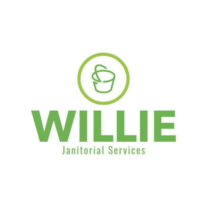 Janitorial Services Logo Design Template 1447