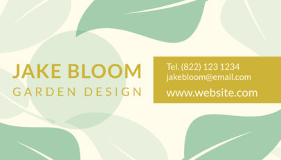 Business Card Template for a Landscaping Company 648