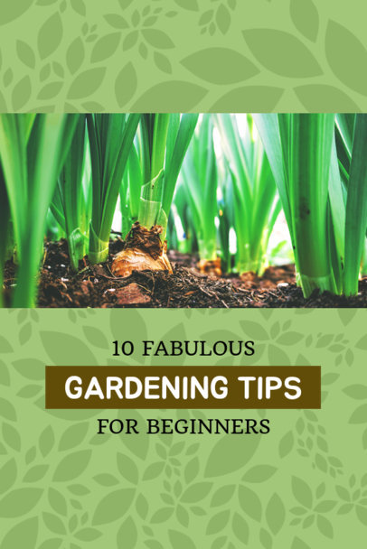 Pinterest Pin Post Maker for Gardening Tips 624c
