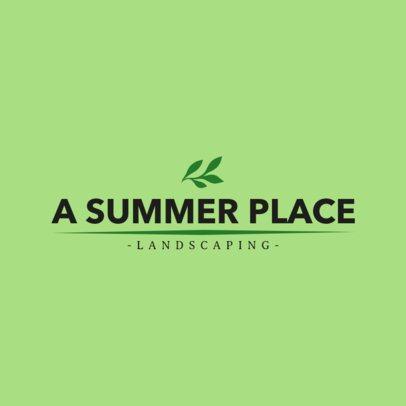 Summer Landscaping Company Logo Maker 1424c