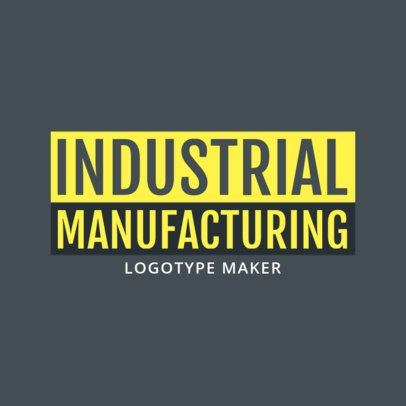 Industrial Manufacturing Business Logo Creator 1418b