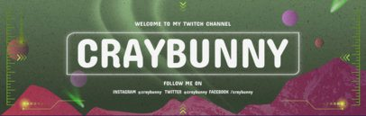 Twitch Banner Creator with an Alien Sky 579d