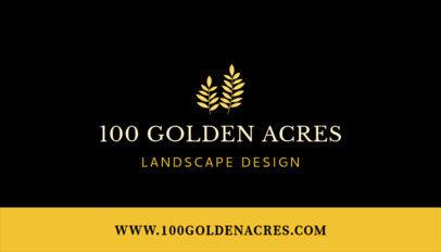 Minimalist Landscape Business Card Maker 652c
