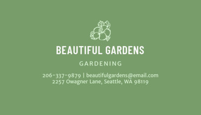 Online Business Card Maker for Gardening 652d