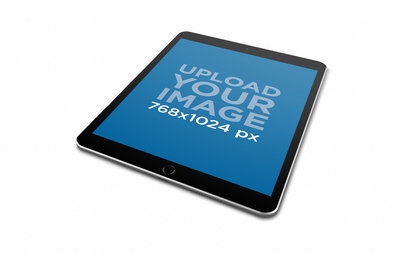 Render Mockup of an iPad Lying Angled Towards the Right 22800