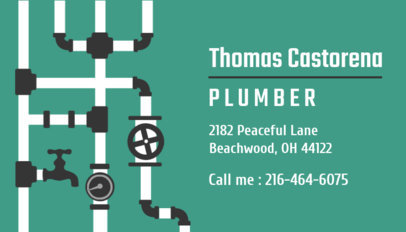 Placeit Business Card Template For Plumbers
