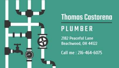 Business Card Generator for Plumbers 654a
